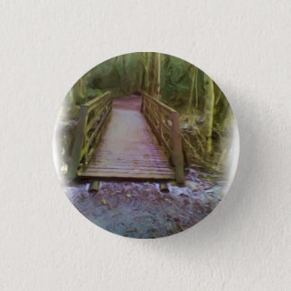 Forest Bridge 1 Inch Round Button
