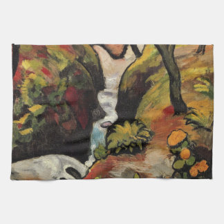 Forest Brook by August Macke Vintage Expressionism Kitchen Towel