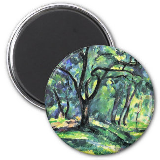 Forest By Paul Cézanne (Best Quality) Magnet