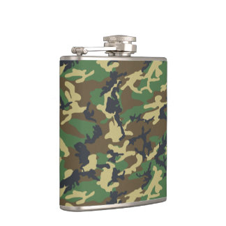 Forest Camo Hip Flask