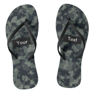 Forest Camouflage Full Print Customizable Flip Flops