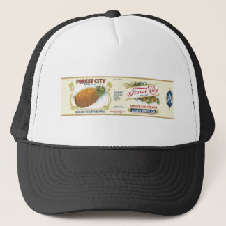 Forest City Sliced Pineapple VIntage Label Trucker Hat