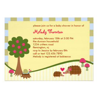 Forest Critters Baby Shower Invitation