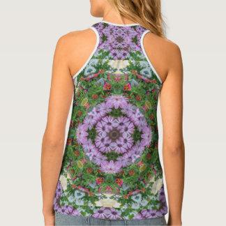 Forest Daisy Mandala Tank Top (Full Print)