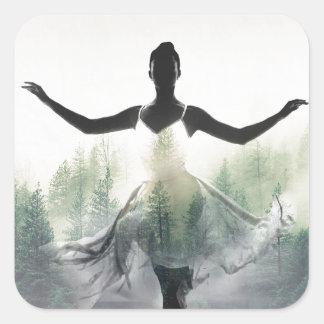 Forest Dancer Square Sticker