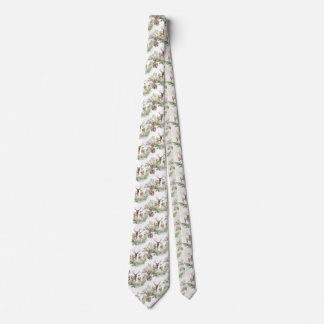 Forest Deer and Pine Branch Pine cone Tie
