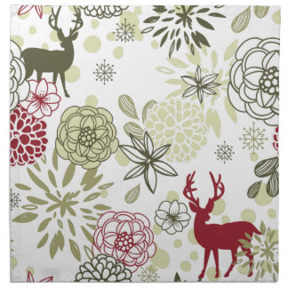 Forest Deer Christmas Napkin