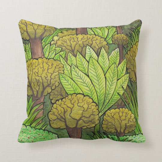 Forest Design Throw Pillow
