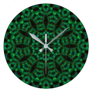 Forest Dodecagram Mandala Clock