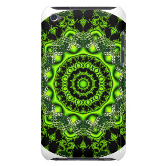 Forest Dome Mandala, Abstract Green Woods iPod Case-Mate Cases