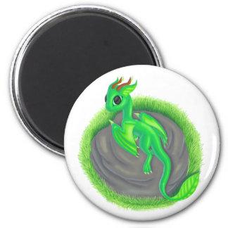 Forest dragon 2 inch round magnet
