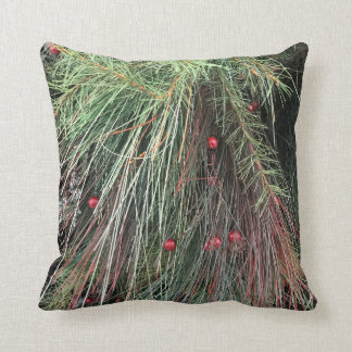Forest Evergreen Throw Pillow