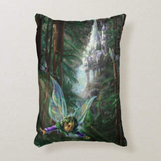 Forest Faires and Waterfall Castle Decorative Pillow