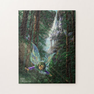 Forest Faires and Waterfall Castle Jigsaw Puzzle