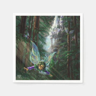 Forest Faires and Waterfall Castle Napkin