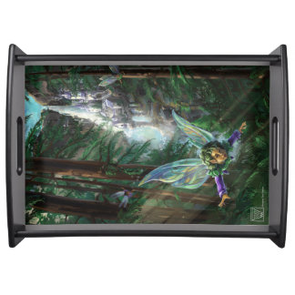 Forest Faires and Waterfall Castle Serving Tray