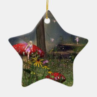 forest fairy Christmas ornament