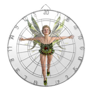 Forest Fairy Flying to the Front Dartboard With Darts