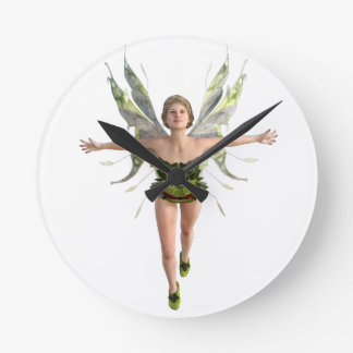 Forest Fairy Flying to the Front Wall Clock