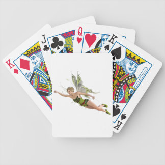 Forest Fairy Flying to the Right Bicycle Playing Cards