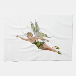 Forest Fairy Flying to the Right Kitchen Towel