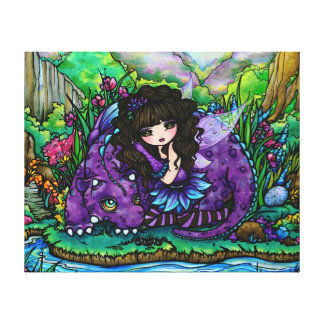 Forest Fairy Purple Dragon Nursery Canvas Art