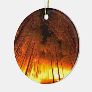 Forest Fire Ceramic Ornament