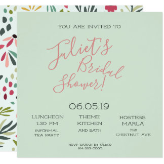 Forest Fling Bridal Party Card