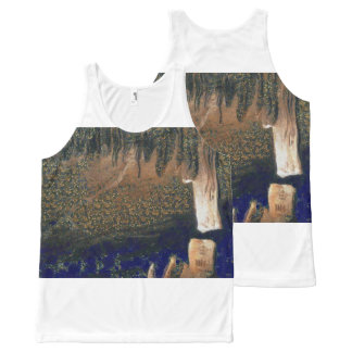 Forest floating on water reservoir All-Over-Print tank top