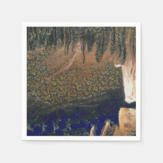 Forest floating on water reservoir paper napkins