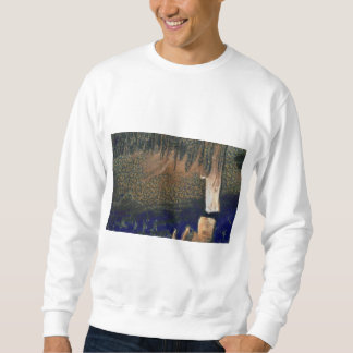 Forest floating on water reservoir sweatshirt