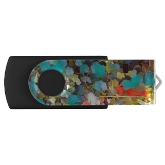 Forest floor leaves fantasy USB flash drive