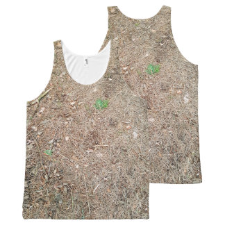 Forest floor pattern All-Over-Print tank top