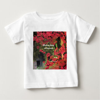 Forest, flowers ,wall  with spititual message baby T-Shirt
