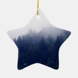 Forest Fog Ceramic Star Ornament