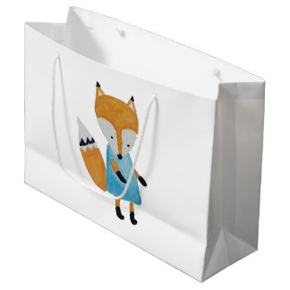 Forest Friends Adorable little Woodland Fox Large Gift Bag