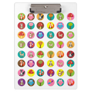 Forest Friends Animals Clipboard