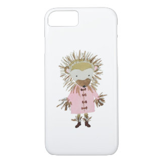 Forest Friends Cute Hand Painted Hedgehog iPhone 7 Case