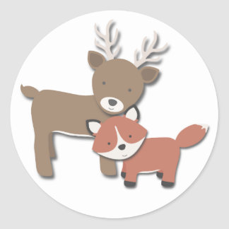 Forest Friends {Deer & Fox} | Stickers