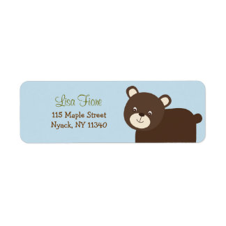 Forest Friends Forest Animal Address Labels