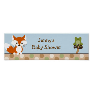 Forest Friends Forest Animal  Banner Sign Poster