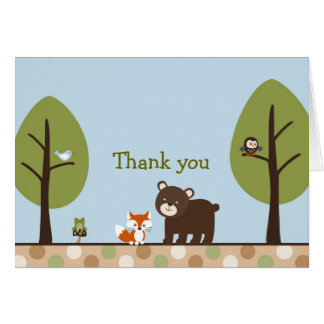 Forest Friends Forest Animal Thank You Note Cards