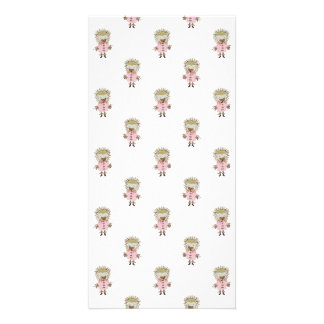 Forest Friends Hedgehog All Over Repeat Pattern Picture Card