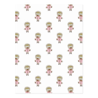 Forest Friends Hedgehog All Over Repeat Pattern Postcard