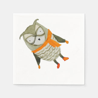 Forest Friends Owl Disposable Napkin