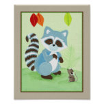 Forest Friends - Raccoon Poster