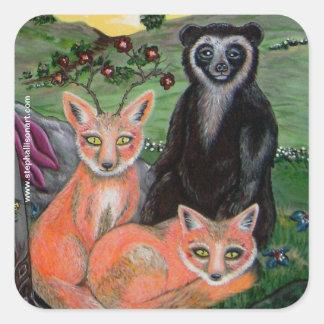 Forest Friends Square Sticker