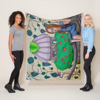 Forest Fruit Fairy Fleece Blanket