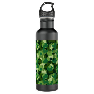 Forest geometric camouflage 710 ml water bottle