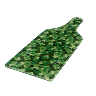 Forest geometric camouflage boards